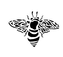 Bee stencil Photographic Print