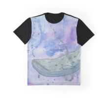 Valis - Watercolor and Black Pen Whale Graphic T-Shirt