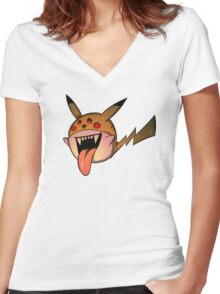 PikaBoo! Women's Fitted V-Neck T-Shirt