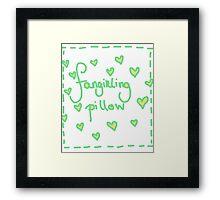 Fangirling Pillow Framed Print