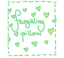 Fangirling Pillow Photographic Print