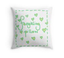 Fangirling Pillow Throw Pillow