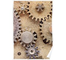 Macro Steampunk watch parts #2 Poster