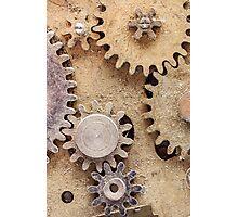 Macro Steampunk watch parts #2 Photographic Print