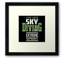 Sky Diving Extreme Sport Framed Print
