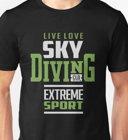 Sky Diving Extreme Sport Unisex T-Shirt