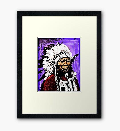 Chief Flying Hawk Framed Print