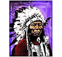 Chief Flying Hawk Photographic Print