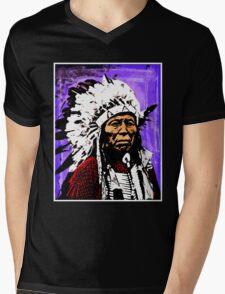 Chief Flying Hawk Mens V-Neck T-Shirt