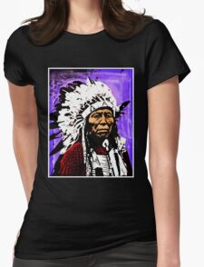 Chief Flying Hawk Womens Fitted T-Shirt