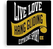 Hang Gliding Extreme Sport Canvas Print