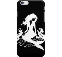 Silhouette mermaid sitting on the stone  iPhone Case/Skin