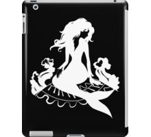 Silhouette mermaid sitting on the stone  iPad Case/Skin