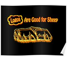 Logos are Good for Sheep Black Poster