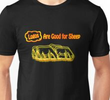 Logos are Good for Sheep Black Unisex T-Shirt