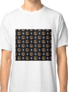 Pirate Skull And Ship Wheel Classic T-Shirt