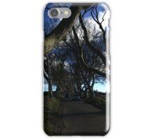 Dark hedges blue skies iPhone Case/Skin