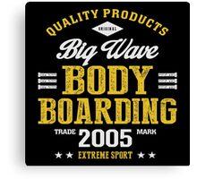 Bodyboarding Extreme Sport  Canvas Print