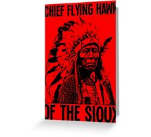Chief Flying Hawk (of The Sioux) Greeting Card