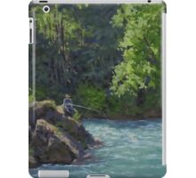 Favorite Spot - Original Fishing on the River Painting iPad Case/Skin