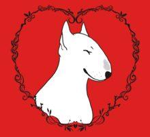 Love Bull Terrier - Black & White One Piece - Long Sleeve