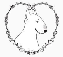 Love Bull Terrier - Black & White One Piece - Short Sleeve