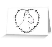 Love Bull Terrier - Black & White Greeting Card