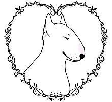 Love Bull Terrier - Black & White Photographic Print
