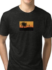Unforgiven Wild West Movie Art Tri-blend T-Shirt