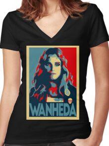 Wanheda Women's Fitted V-Neck T-Shirt