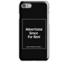 Advertisment Space for Rent - Black iPhone Case/Skin