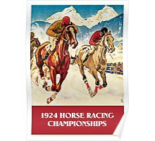 Retro vintage 1920s Horse Racing championships Poster