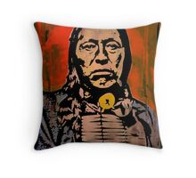 Chief Flying Hawk-The Sioux Throw Pillow