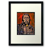 Chief Flying Hawk-The Sioux Framed Print