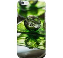 Green Bubble - Macro Photography iPhone Case/Skin