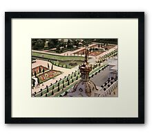 Royal Park with fountains Framed Print