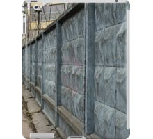 dreary road along the prison wall iPad Case/Skin