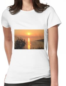 Orange Sunset - Nature Photography Womens Fitted T-Shirt
