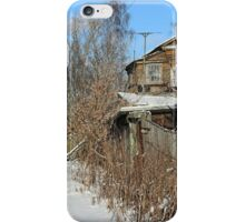 Rural house winter iPhone Case/Skin
