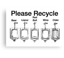 Please Recycle Canvas Print