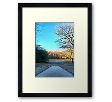 Tee Shot Into the Open Framed Print