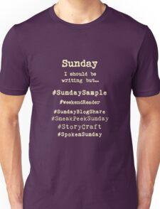Hashtag Writer Week - Sunday (dark tees) Unisex T-Shirt