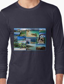 Collage/Postcard from Albania 3 - Travel Photography Long Sleeve T-Shirt