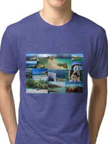 Collage/Postcard from Albania 3 - Travel Photography Tri-blend T-Shirt