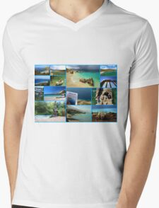 Collage/Postcard from Albania 3 - Travel Photography Mens V-Neck T-Shirt