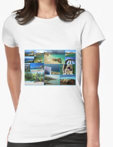Collage/Postcard from Albania 3 - Travel Photography Womens Fitted T-Shirt