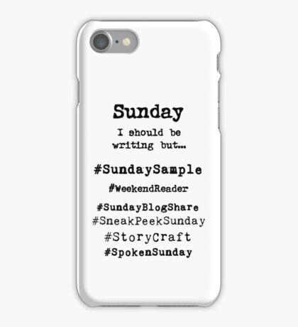 Hashtag Writer Week - Sunday iPhone Case/Skin