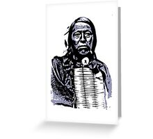 Chief Flying Hawk-The Sioux 2 Greeting Card
