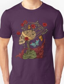 skull, snake, butterflies and flowers Unisex T-Shirt