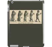 Baseball history, 1889 drawing Evolution of a cat-cher iPad Case/Skin